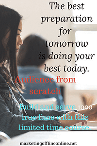 Doing your best with Audience from scratch
