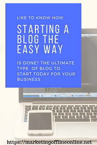 STARTING A BLOG THE EASY WAY