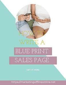 Blue Print Sales Page