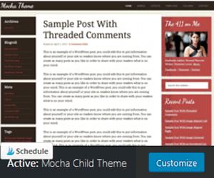 Mocha Child Theme Studio Press