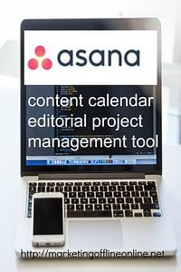 content calendar Asana